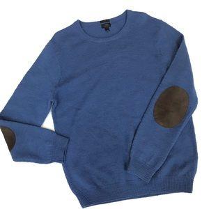 J Crew Merino Wool Slim elbow patch sweater L
